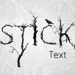 Creepy Branch Text - Photoshop